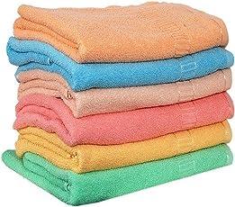 Milap Cotton Hand Towels, 14x21 Inches(Multicolour, Milap123) - Set of 6