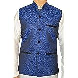 Men's Indian Jacquard Waist Coat Nehru Jacket Modi Jacket MJ1060