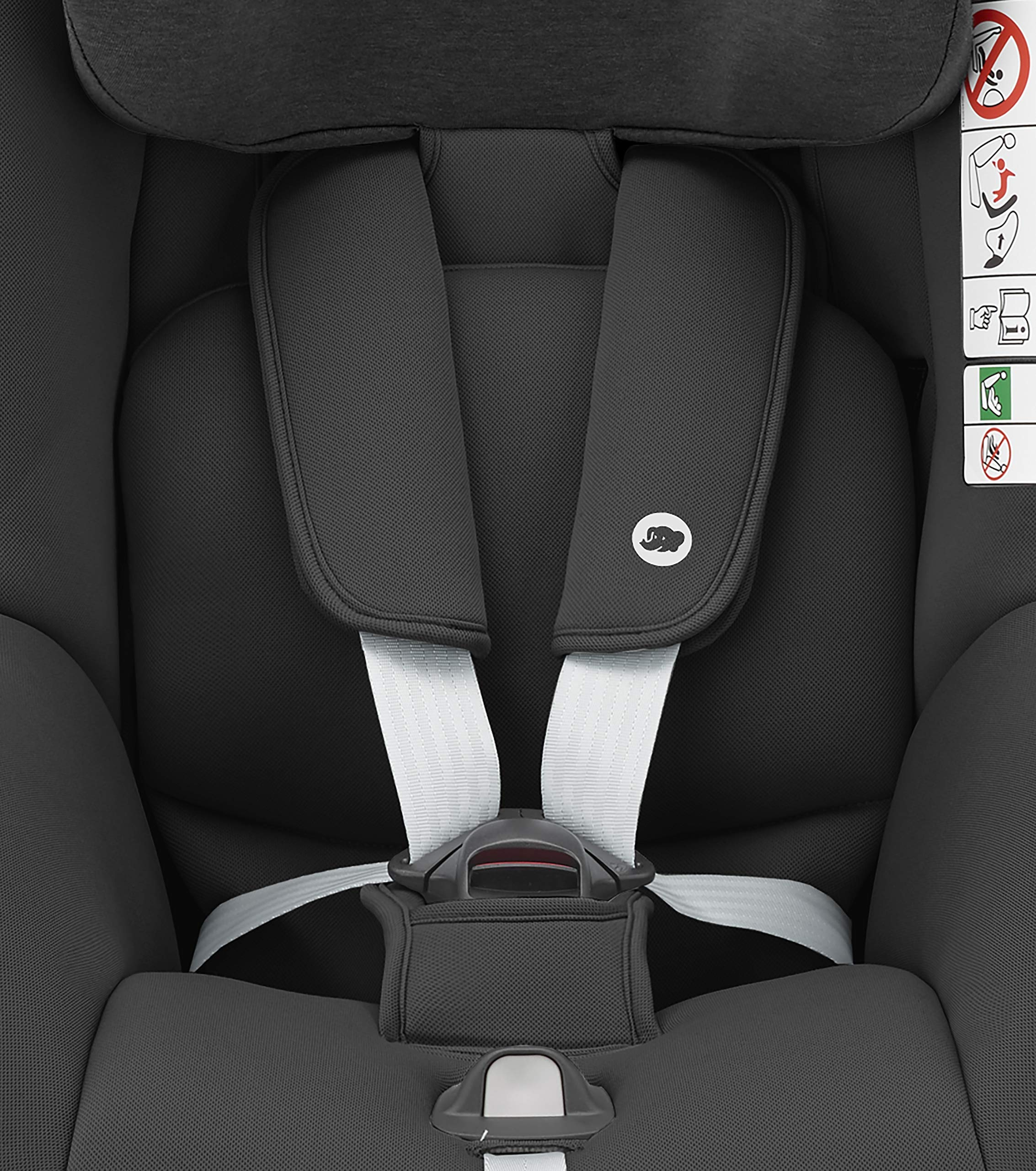 Bébé Confort Pearl Smart i Size 6.88 kg Bébé Confort Car seat 9-18 kg for children from 6 months to 4 years approx. height between 67 - 105 cm, approved i-size (ECE R129) Can be used in the opposite direction of travel up to 4 years (a backward mounted seat is 5 times safer) to protect baby's head and neck Car seat reclines into 4 positions in both directions for maximum comfort for your child. 7
