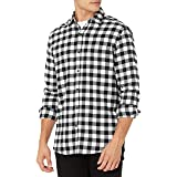 Amazon Essentials Herren Langärmliges Flanellhemd mit regulärer Passform