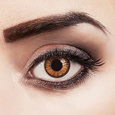 aricona Farblinsen farbig braune Kontaktlinsen natürlich farbige Hydrogel Jahreslinsen