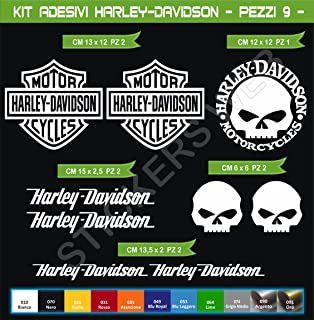 Maxi Termoadesive Toppe Skull Harley Davidson Willie G Skull Patches Set 3 pz