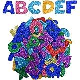 Pegatinas de Espuma Brillantes Pegatinas de Letras Auto Adhesivas, Letras A a Z, 5 Sets, Colores Variados, Totalmente 130 Pie