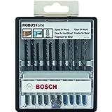 Bosch Professional 10pièces Jeu de lames de scie sauteuse Robust Line (bois et métal pour le sciage du bois et du métal, acc
