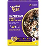 Yogabar Dark Chocolate Oats 400g | Gluten Free Golden Oats | Healthy Breakfast Cereal with Wholegrain Oats