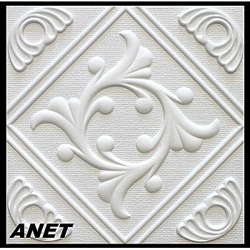 ANTIK 30 m2 Deckenplatten Styroporplatten Stuck Decke Dekor Platten 50x50cm