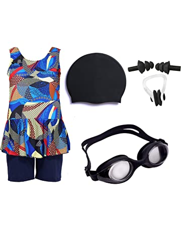 9c598f2a3 Wetex Premium Girls Swimming Kit with Swimming Costume Swimming Goggles  Silicone Swimming Cap Ear Plug and