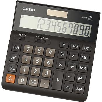 CASIO DH-12BK calcolatrice da tavolo - Display a 12 cifre, selettore di arrotondamento, gran totale