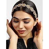 Karatcart Gold-Plated Kundan-Studded Handcrafted Hairband