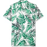 Marca Amazon - 28 Palms - Polo de golf de piqué con estampado tropical, algodón de calidad, corte estándar.