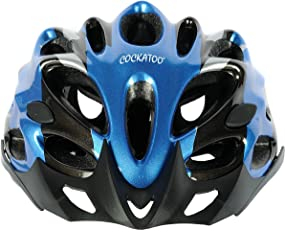 Cockatoo Professional Multi-Colour Cycling Helmet, Skating Helmet (White:Yellow, Medium) (Blue:Black, Medium)