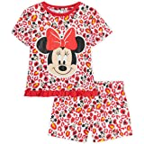 Disney Minnie Mouse Girls Pyjamas, 100% Cotton Kids PJs, Official Merchandise