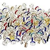200 قطعة خرز رونديل لهجة كريستال مباعد الخرز فضفاض لصنع المجوهرات (ألوان متعددة)