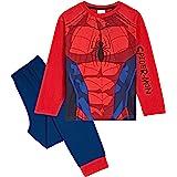 Marvel Pijama Niño, Disfraz Spiderman Niño, Conjunto Dos Piezas con Camiseta Manga Larga y Pantalones, Regalos para Niños y A
