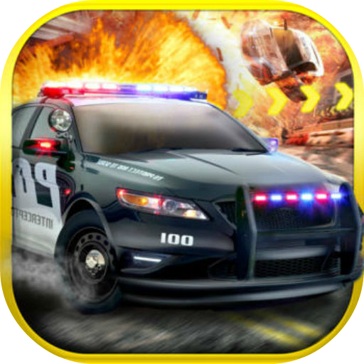 3D - cie Bike Attack Race Police Car Chase Police Car Driver 3D Furious Racing dos explosion ()