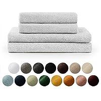 Blumtal Handtücher Set 2 Badetücher 70x140 + 2 Handtücher 50x100 - weich und saugstark, 100% Baumwolle, Oeko-Tex 100…