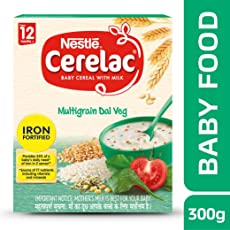 Nestlé CERELAC Fortified Baby Cereal with Milk, Multigrain Dal Veg – From 12 Months, 300g BIB Pack