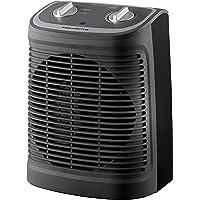 Rowenta SO2330F2 Radiateur et Ventilateur Soufflant Instant Comfort Compact Chauffage d'Appoint et Ventilation Chaud Froid 2 Vitesses 2400W Silencieux Gris et Noir