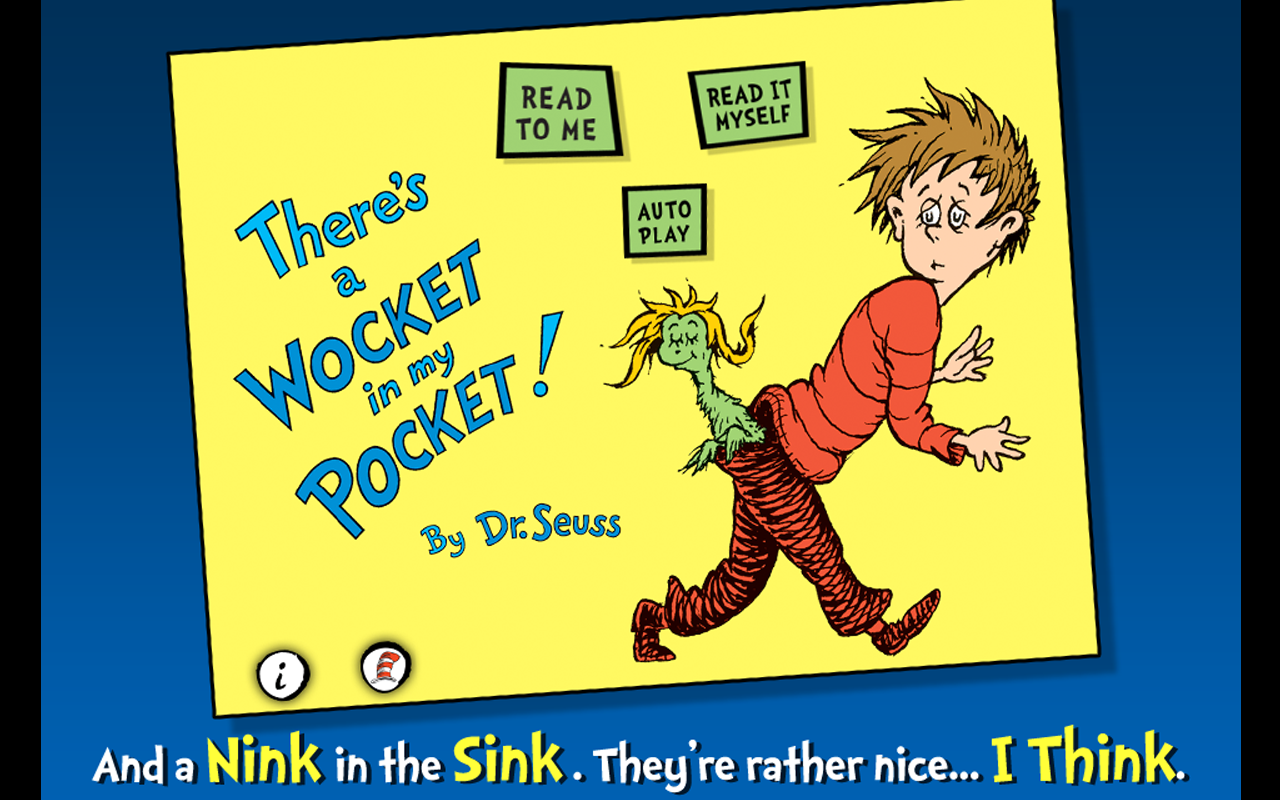 graphic relating to Wocket in My Pocket Printable named Theres a Wocket in just My Pocket! - Dr. Seuss: .british isles
