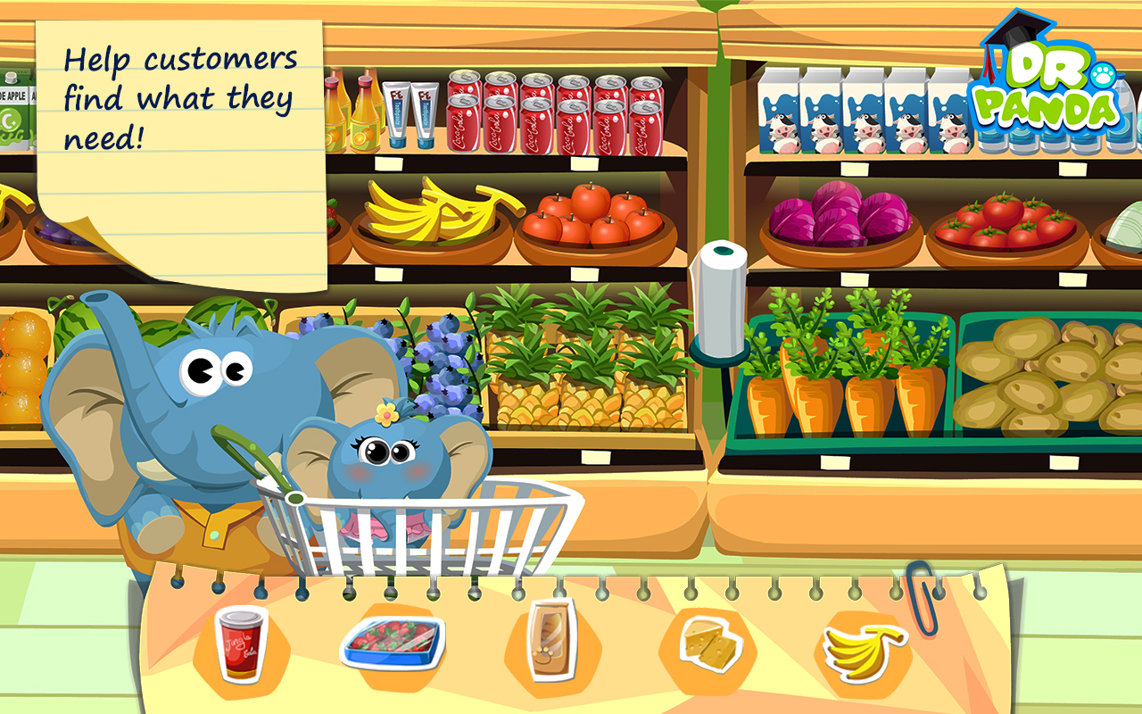 Vegetables basket cartoon