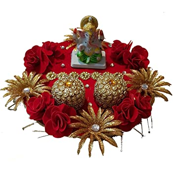 Buy Generic Ekta Handicrafts Ganesha Engagement Ring Platter With
