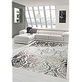 Designer tapijt, modern tapijt, wollen tapijt, gespikkeld, woonkamertapijt, wollen tapijt, ornament, grijs, crème, taupe, afm