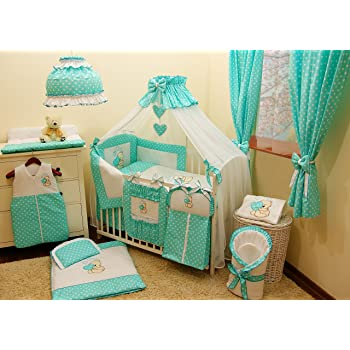 Literie De Bebe Ensemble Set Xl Complet 10 Pieces Linge Parure De
