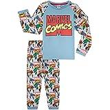 Marvel Pijamas Niños, Pijama De Manga Larga y Algodon De Avengers, Ropa para Niño y Adolescente De Hulk, Iron Man y Thor, Reg