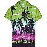 Mens Hawaiian Shirt Short Sleeve STAG Beach Holiday Palm Tree Fancy Dress Hawaii