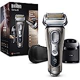Braun Series 9 9385cc Afeitadora Eléctrica Hombre de Última Generación, Afeitadora Barba con Estación Limpieza y Carga Clean&
