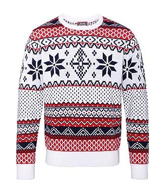 Christmas Shop Adults Nordic Fair Isle Christmas Jumper: Amazon.co ...