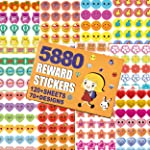 HORIECHALY 5880 Kids Reward Stickers, Incentive Stickers for Teachers,12 Pack,120 Sheets in Total, Over 70 Unique Designs...