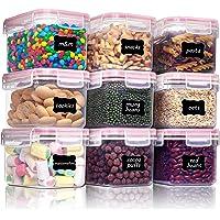 Vtopmart 0.8L boîtes de Conservation Alimentaire sans BPA de Nourriture en Plastique avec Couvercle,Ensemble De 9+24…
