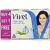 Vivel Aloe Vera Soap, 150g (Buy 4 Get 1 Free)