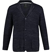 JP 1880 Men's Big & Tall Chunky Ribbed Button Front Cardigan 708271