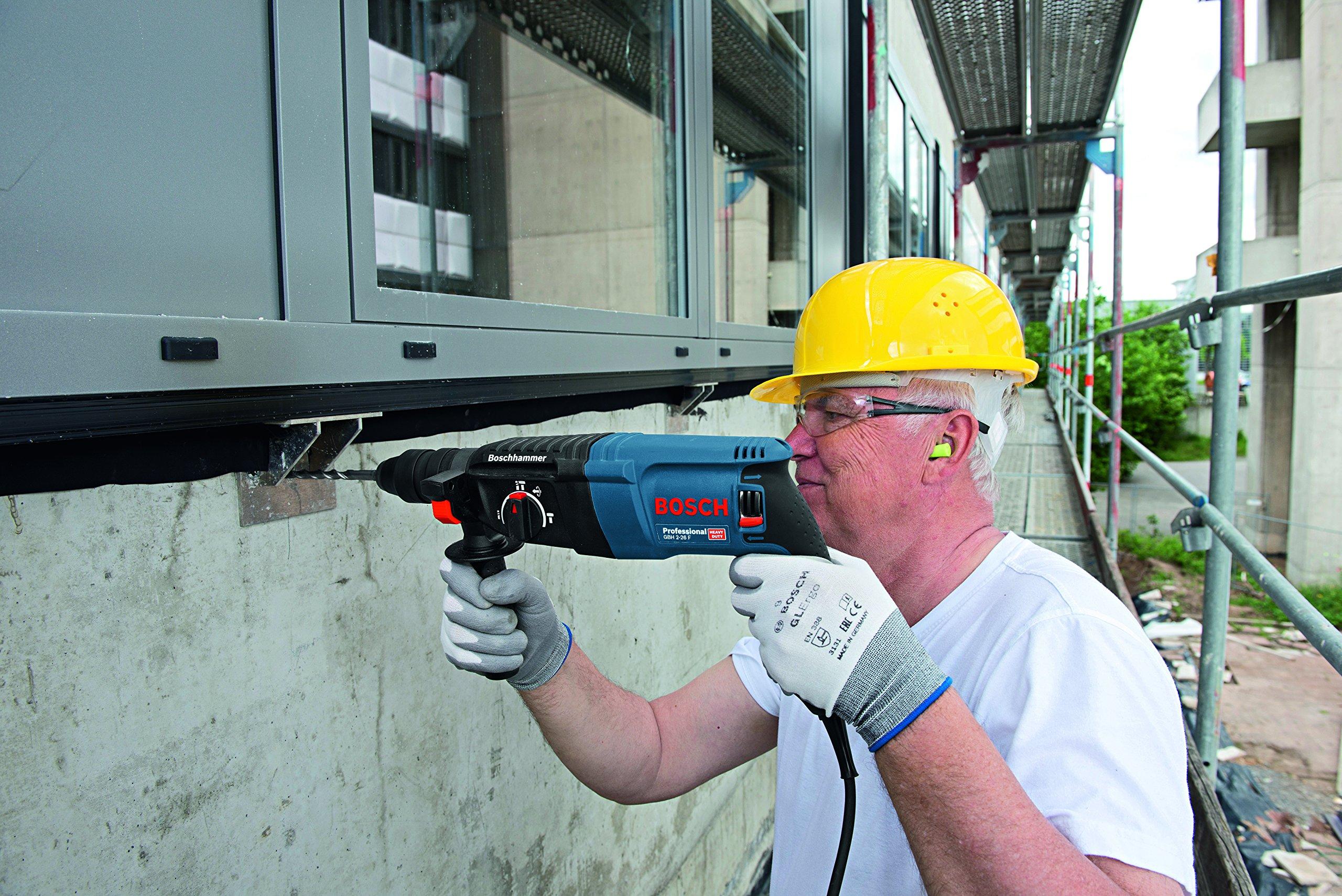 Bosch Professional GBH 2-26 F – Martillo perforador combinado (2,7 J, máx. hormigón 26 mm, portabrocas SDS plus + cilíndrico, en maletín)