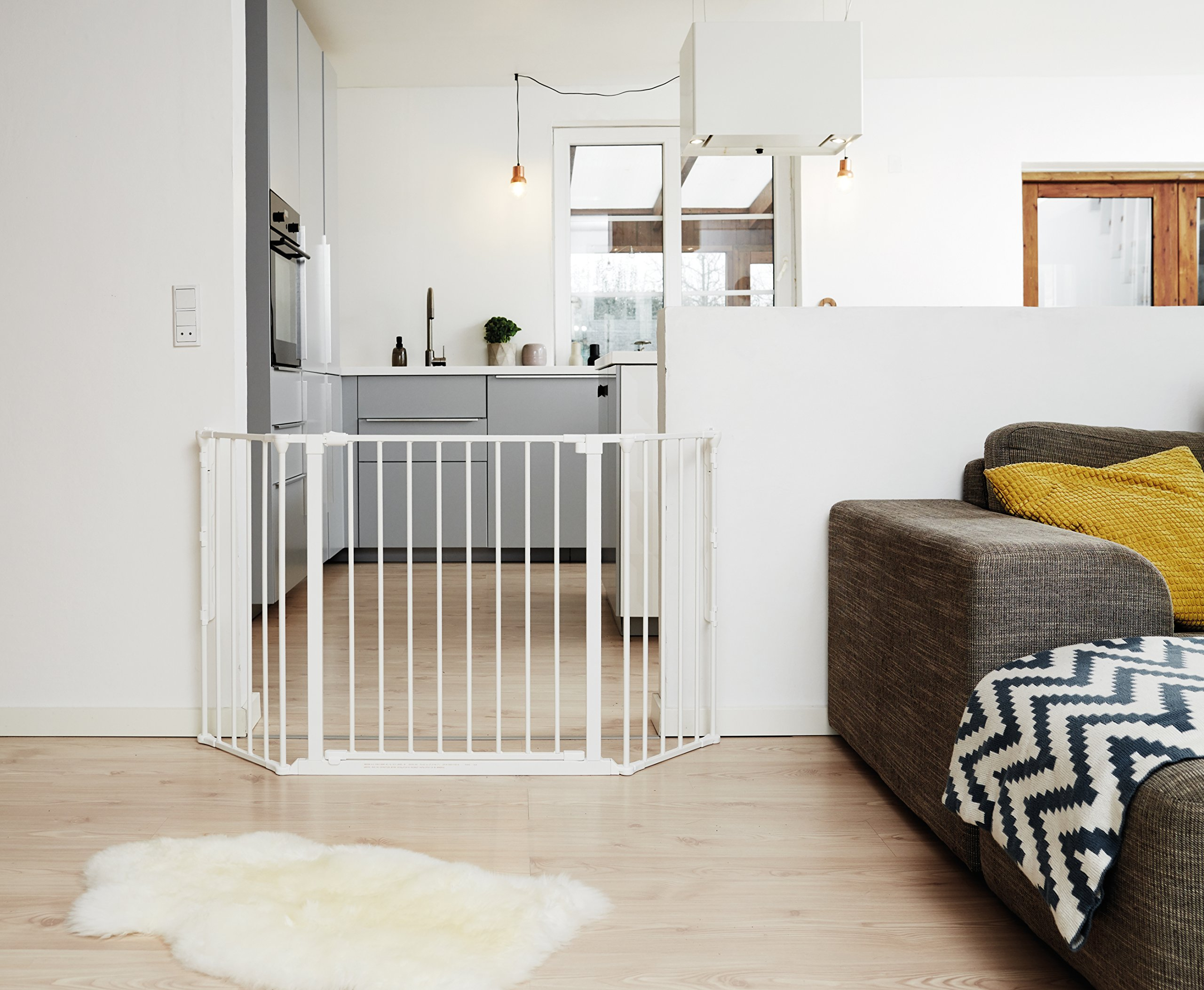 BabyDan Configure (Medium 90-146cm, White)  Only configure system fulfilling newest European safety standard Multi purpose room divider and gate for wider openings Flexible and easy to fit 3