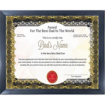 happy giftmart personalized best dad father award certificate for