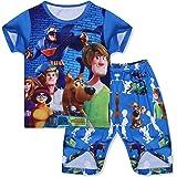 Pijamas para niños Scooby Ropa de Dormir Conjunto Informal Pijamas de Manga Corta Conjuntos Ropa de Dormir de Verano para niñ