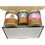 Nutural World - Exklusiv Krämig Mandel smör Present förpackning (3 burkar i box) - 170g per burk