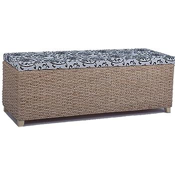 rattan w schekorb w schetruhe 80 sitz sitzbank gepolstert wei flur bank. Black Bedroom Furniture Sets. Home Design Ideas