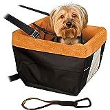 Kurgo Autositz für kleine Hunde oder Katzen, Inklusive Sicherheitsgurt, Vorderer und hinterer Hundeautositz, Reiseträger Autositz für Haustiere, Hilft bei Autokrankheit bei Hunden
