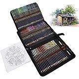 Professionnel Crayon de Couleurs pour Adultes et Enfants, Ensemble de 72 Crayon de Couleur, Numérotés, Très Pigmentés, idéal