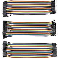 120pcs Câbles dupont mâle à femelle, mâle à mâle, femelle à femelle pour Arduino, Raspberry Pi (40 Pines mâle à femelle, 40 Pines mâle à mâle, 40 Pines femelle à femelle pour câbles Arduino, câbles Raspberry Pi, jumper cable breadboard, jumper Arduino, Jumper Wires