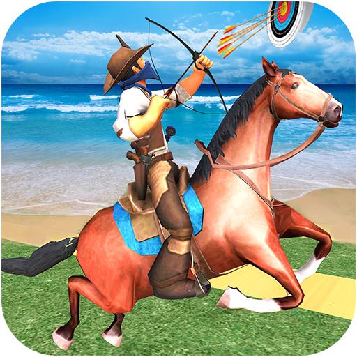 Horse Archery und Derby Challenge - Bestes Pferd zurück Mounted Archery Horse Games (Beste Bogenschießen-ziel)