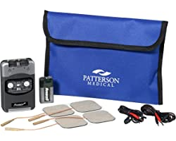 Patterson Medical Premier Plus TENS Machine, Dual Channel Ten Machine for Pain Relief and Soothing with Self Adhesive Electro