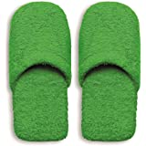 Excelsa Bagno Caldo Pantofole Da Uomo, Spugna, Verde, 30x12x5 cm