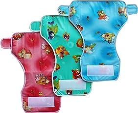 My NewBorn Reusable Baby Diaper Towel with Waterproof Plastic Packing (Multi-Plast3) - Set of 3