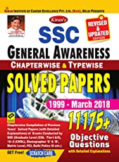 KIRAN'S SSC GENERAL AWARENESS CHAPTERWISE & TYPEWISE SOLVED PAPERS 1999 MARCH 2018 ENGLISH