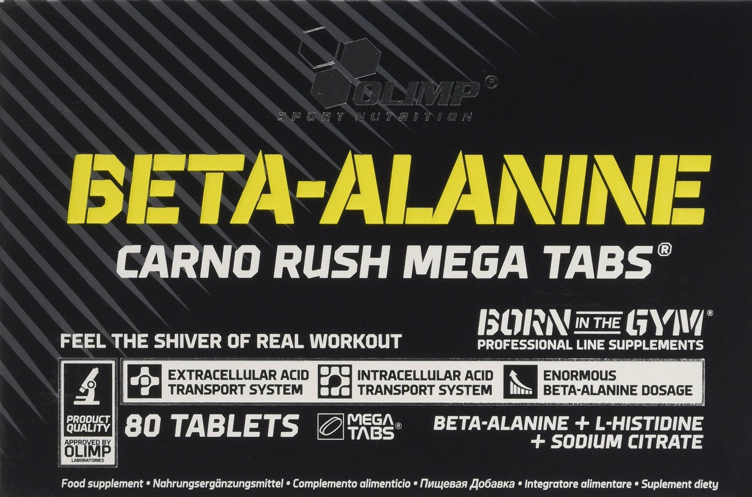 911YtLA9pRL - Olimp Labs Beta-Alanine Capsules, Carno Rush, Pack of 80 Mega Tablets, BETA-Alanine CARNO Rush